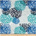 Premier Prints Indoor/Outdoor Blooms Blue Vista