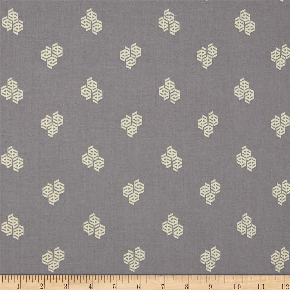 Kaufman Fragmental Geo Dots Grey