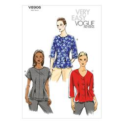 Vogue Misses' Top Pattern V8906 Size B50