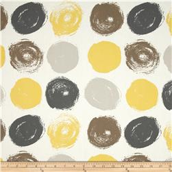 Dwell Studio Brushed Dot Citrine Fabric