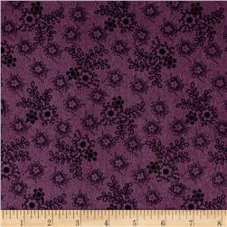Cozies Flannel Harvest Flower Purple