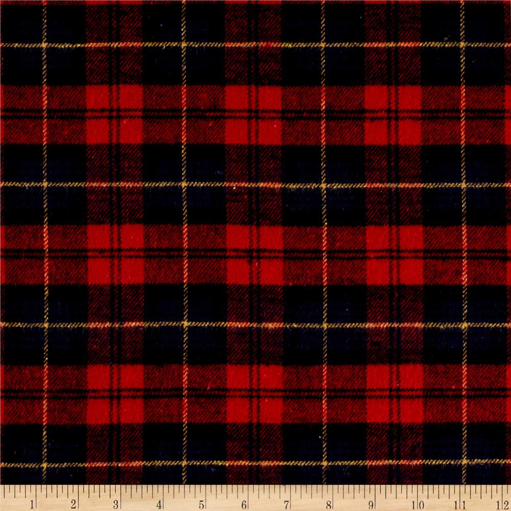 Yarn Dyed Flannel Plaid Red/Navy/Black