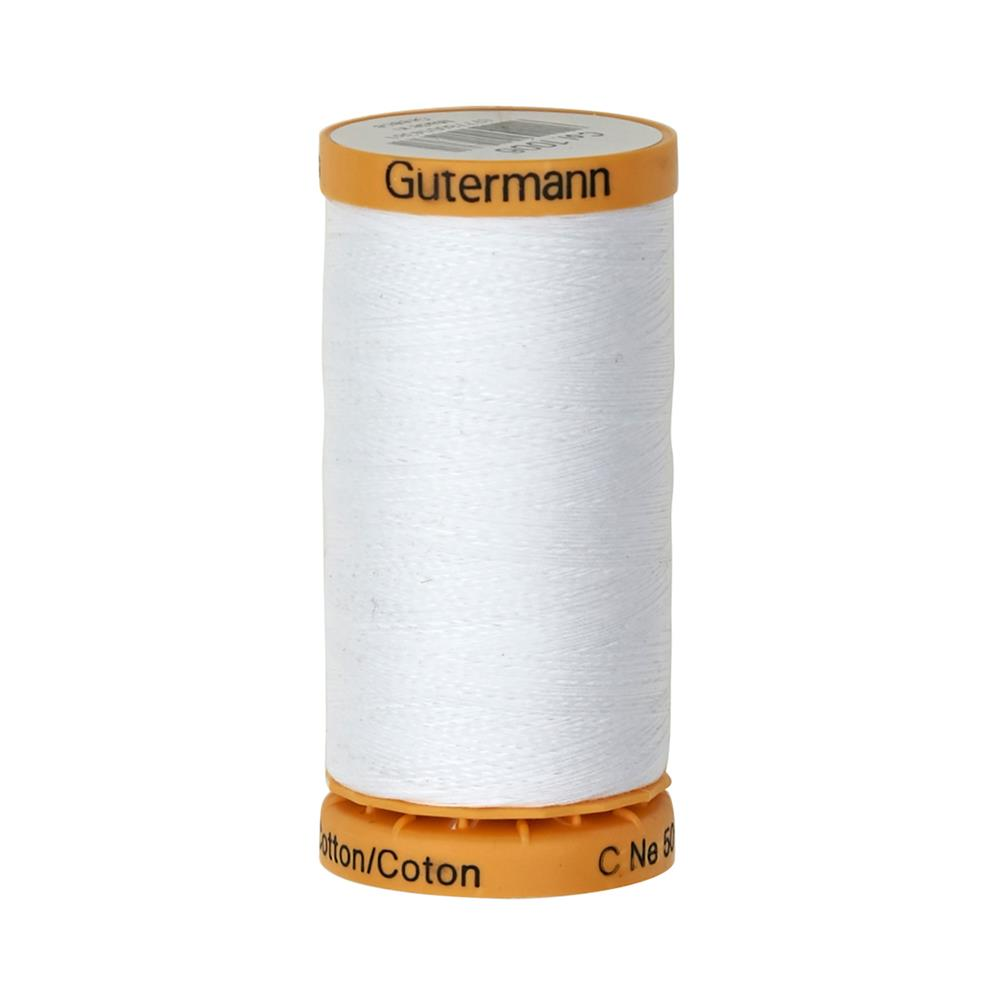 Gutermann Natural Cotton Thread 250m/273yds White