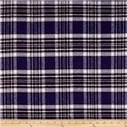 Washable Wool Blend Purple Plaid