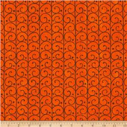 Moda Forest Fancy Scrolly Trellis Harvest Orange