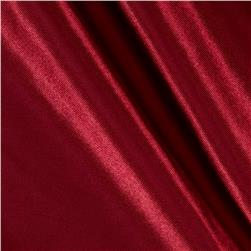 Poly Charmeuse Satin Cranberry