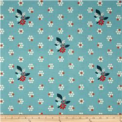 Cotton + Steel Fruit Dots Fruit Blossom Blue