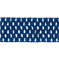 "1 3/4"" Crochet Headband Trim Royal Blue"
