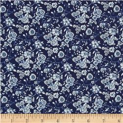 Woodland Forest Small Floral Navy