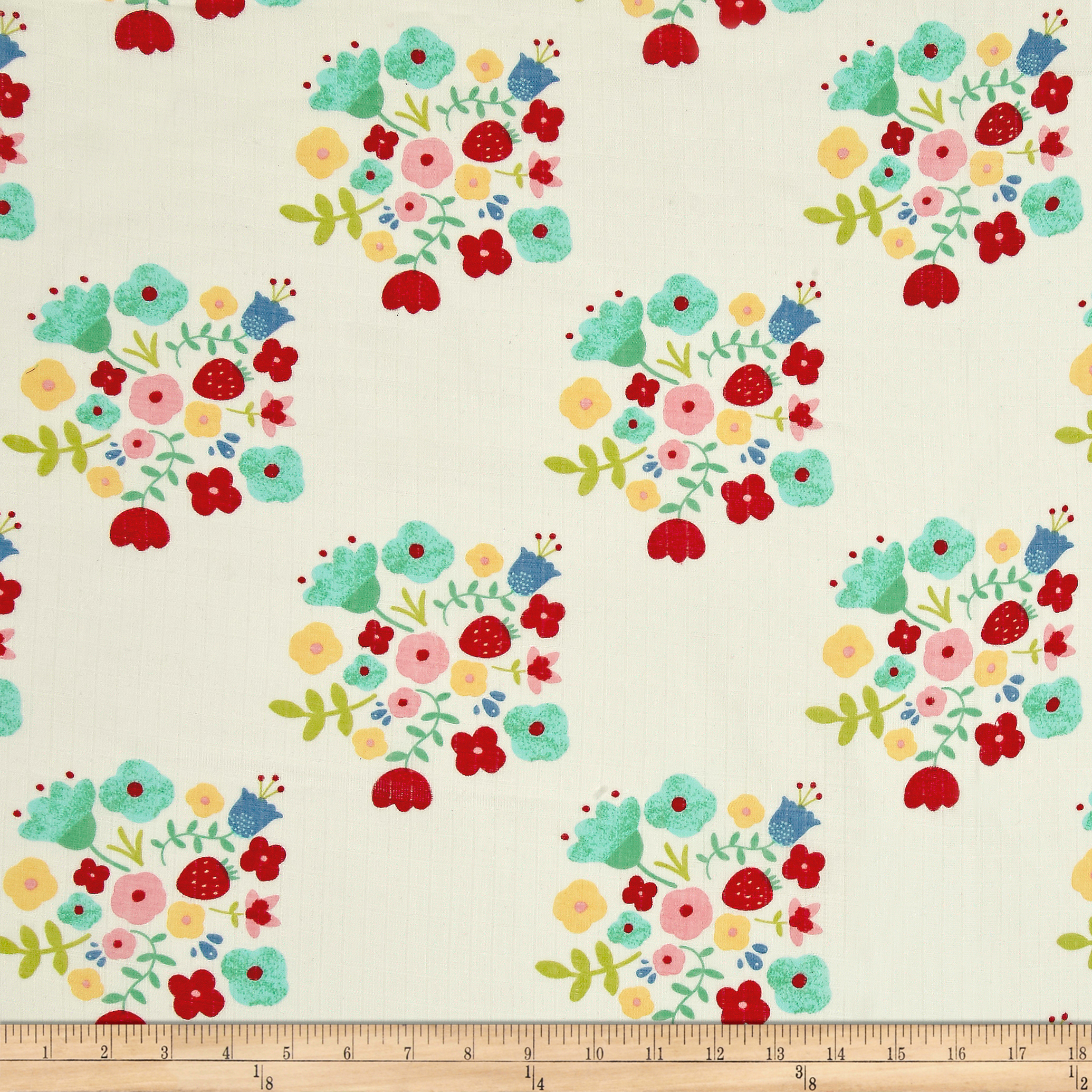 Riley Blake Double Gauze Hedgerow Bouquet Cream Fabric by Christensen in USA