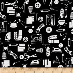 Small Talk Sewing Accessories Black