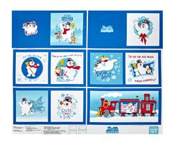 "Frosty the Snowman Everyone's Fav Snowman Book 35"" Panel Royal Blue"