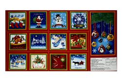 "Quilting Treasures Holiday Treasures Christmas Angels 23.5"" Book Panel Red"