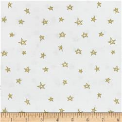 Riley Blake When Skies are Grey Sparkle Star Gold