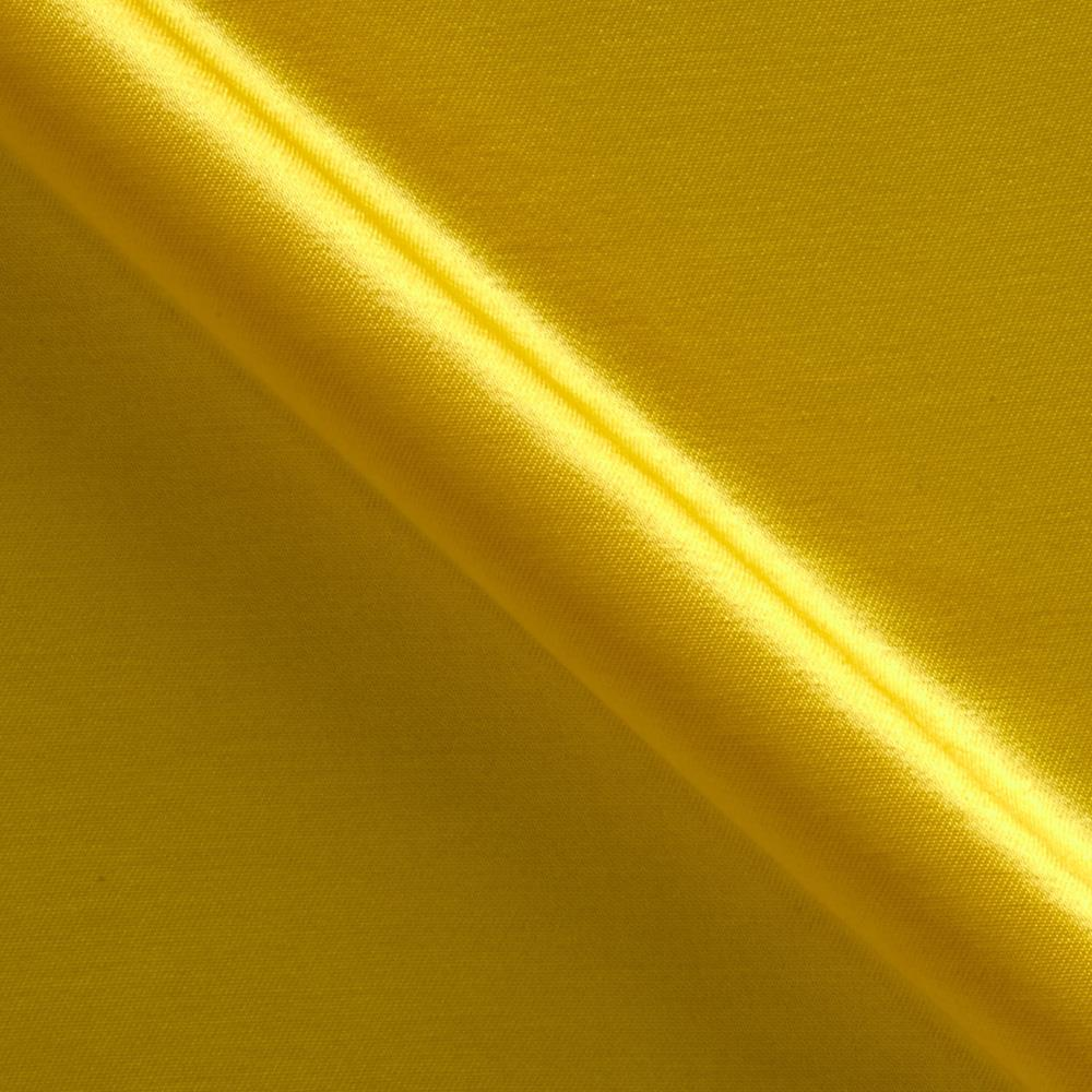 Rayon Blend Satin Shantung Yellow