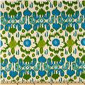 Premier Prints Rio Grasshopper/Blue/Natural