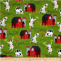 Bessie & The Diaryinettes Cow Farm Green