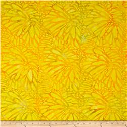 Timeless Treasures Batik Tonga Neon Philodendron Citrus