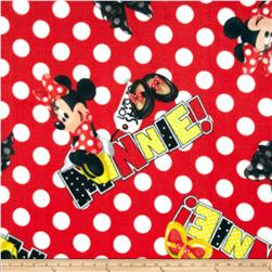 Printed Fleece Minnie Mouse Minnie Loves to Shop Red