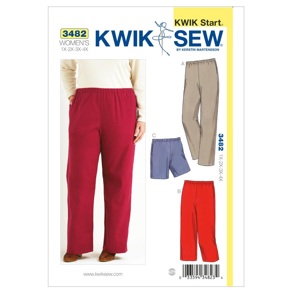 Kwik Sew Pull-On Pants & Shorts Plus Size Pattern - Discount ...