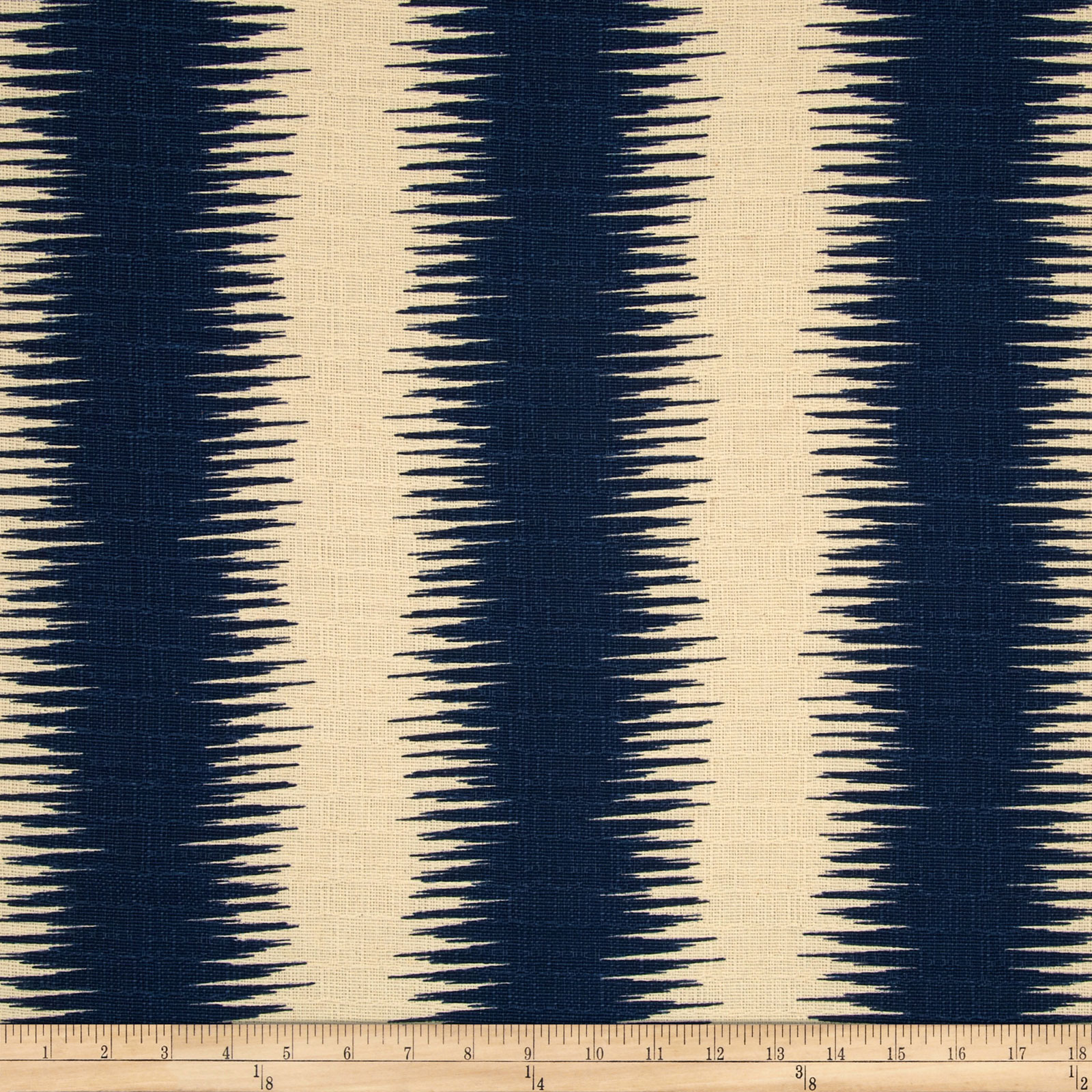 Premier Prints Jiri Stripe Nina Navy/Birch Fabric