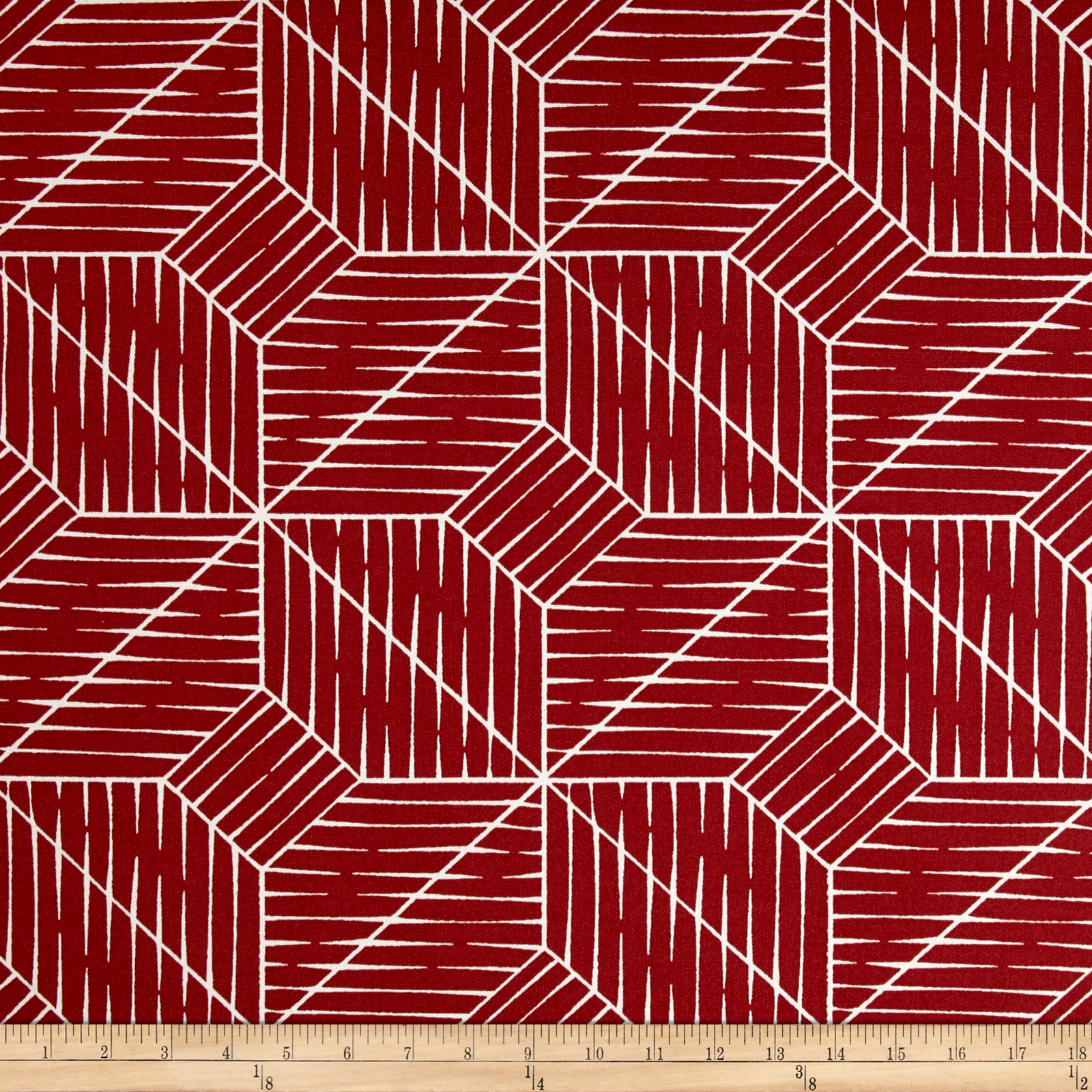 Covington Indoor/Outdoor Planx Red Fabric by Covington in USA