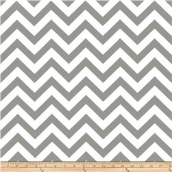 Premier Prints Indoor/Outdoor Zig Zag Grey Fabric