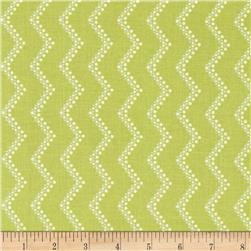 Modern Age Wavy Chevron Lime Fabric