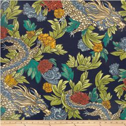 Dwell Studio Ming Dragon Slub Admiral Fabric