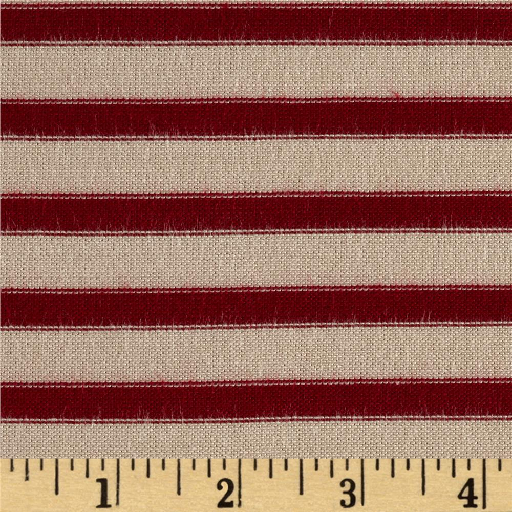 Rayon Lycra Spandex Hatchi Knit Yarn Dyed Stripes Red/Tan