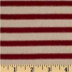 Rayon Lycra Hatchi Knit Yarn Dyed Stripes Red/Tan