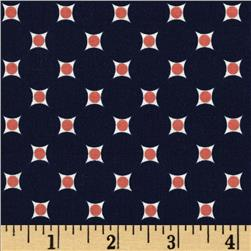 Riley Blake Vintage Verona Dots Navy Fabric