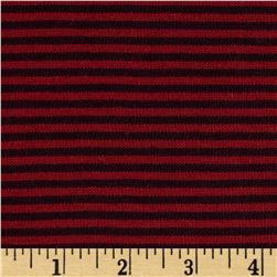 Rebecca's Cotton Hatchi Knit Stripes Burgundy/Red