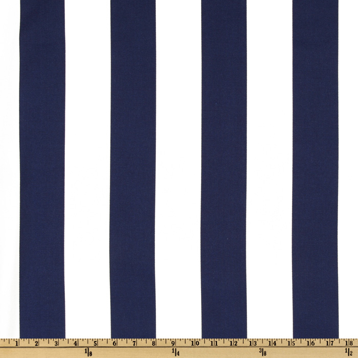 Swavelle/Mill Creek Indoor/Outdoor Finnigan Stripe Indigo Fabric