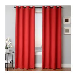 Sunbrella 84'' Solid Grommet Outdoor Panel Jockey Red
