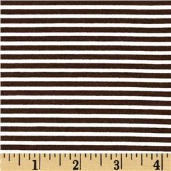 Stretch Blend Jersey Knit Stripe Brown/White