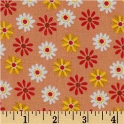 Retro Daisies Orange