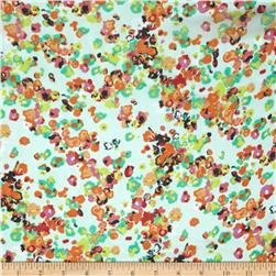 Floral Chiffon Mint/Orange