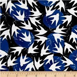 Kaufman Marks by Valori Wells Birds Indigo