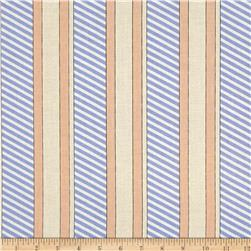 Kanvas Cabana Stripe Tan/Blue