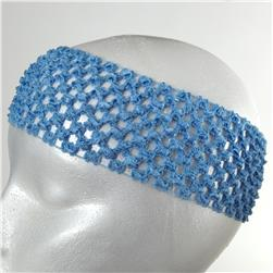 "2 3/4"" Crochet Headband Blue"