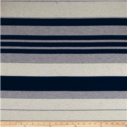 Slub Stripe Jersey Knit Navy/Heather/Oatmeal