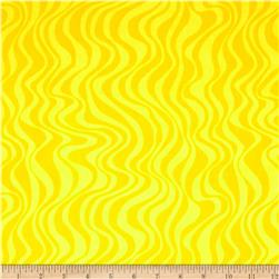 Calypso Frogs Swirl Stripe Yellow