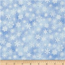 Holiday Accents Classics 2011 Metallic Small Snowflake Blue