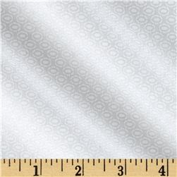 Riley Blake White on White Stitched Circle Fabric