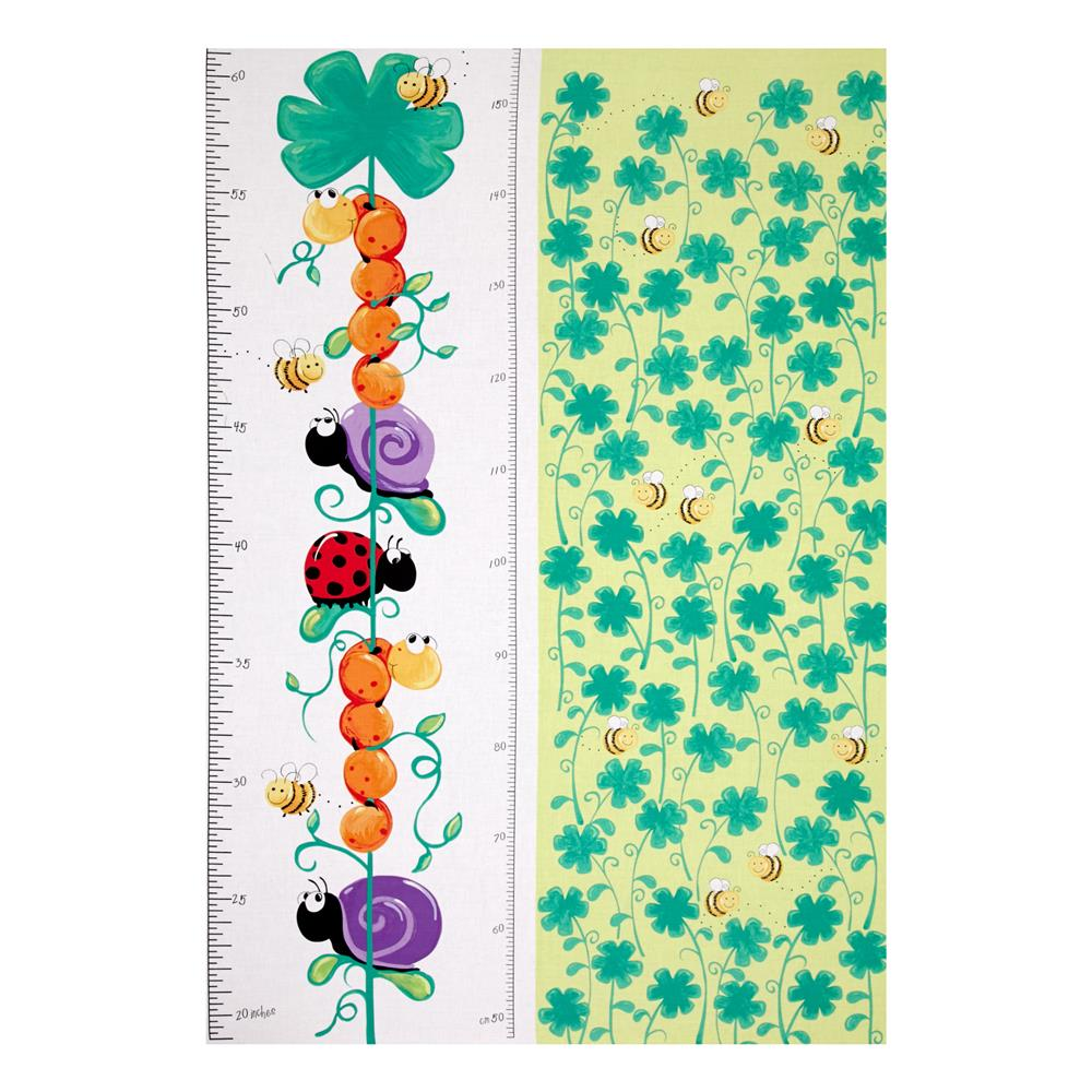 Susybee Leif the Caterpillar 30 In. Growth Chart Panel Multi