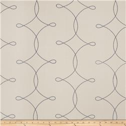 Fabricut  Embroidered Sheryl Interloc Slate