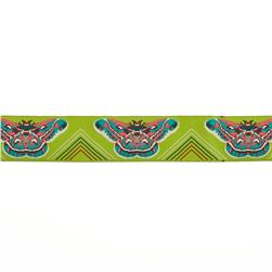 1 1/2'' Anna Maria Horner Green Moths Ribbon