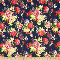 Fashion Printed Denim Floral Chic