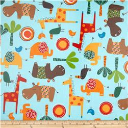 Jungle Creatures Slicker Laminate Animal Collage Wild
